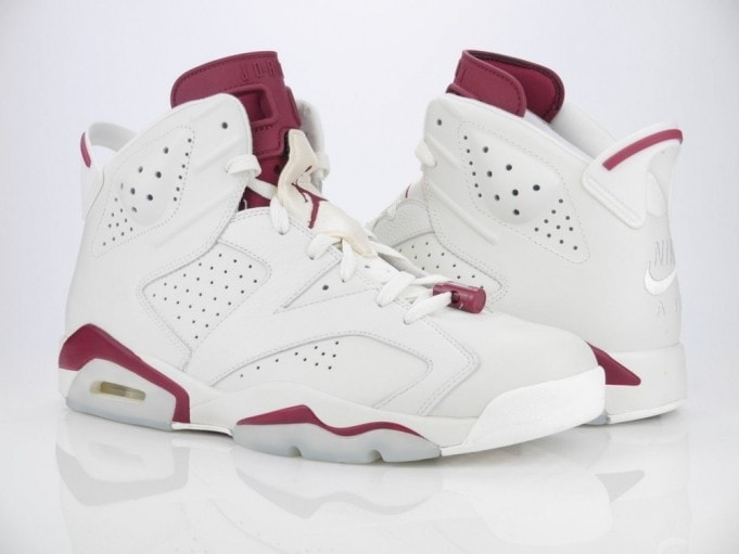 air jordan 6 off white/new maroon (1991)