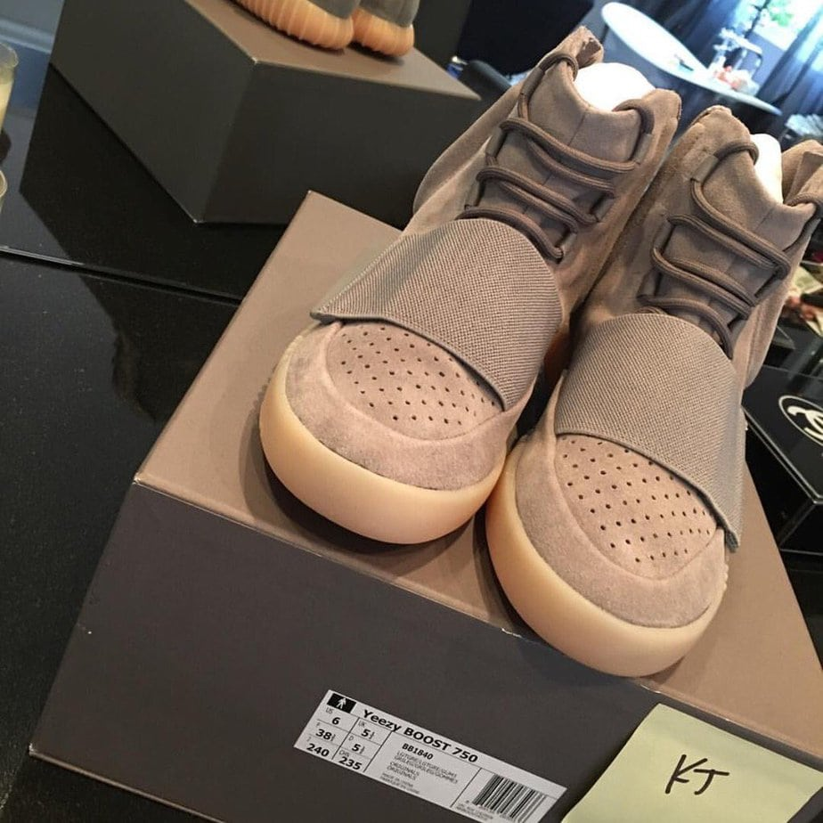 Adidas Yeezy Boost 750 Light Brown High Top Sneaker For Sale