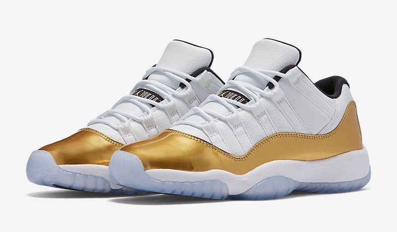 Air Jordan 11 Low White Gold