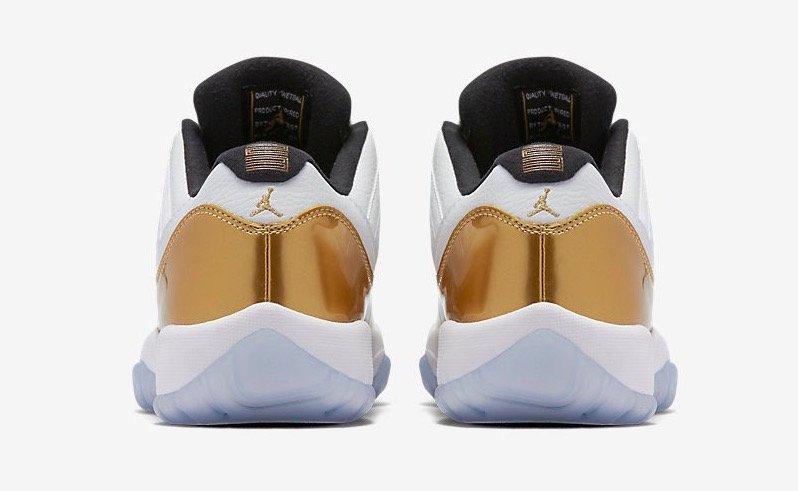 "Air Jordan 11 Low ""White/Gold"""