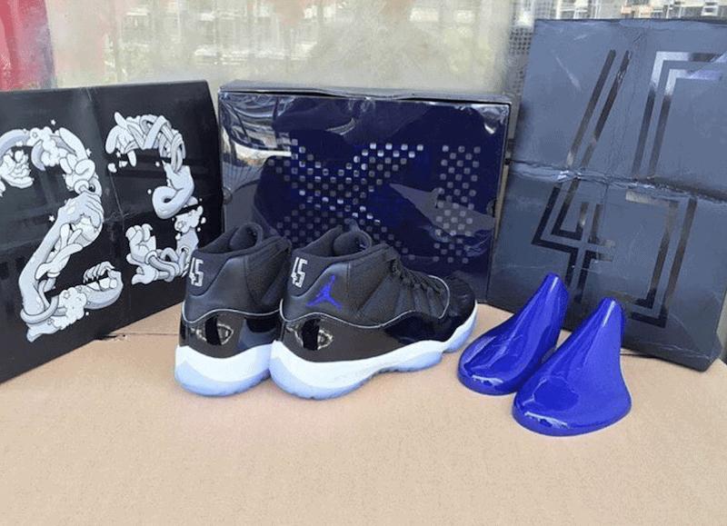 Air Jordan 11 Espacio Caja Atasco Zapato OvkVcXEq0