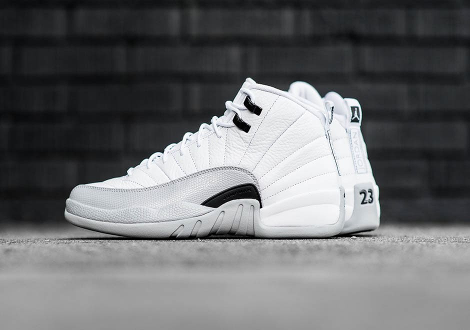 Air Jordan 12 Barons Wolf Grey Although only releasing ...