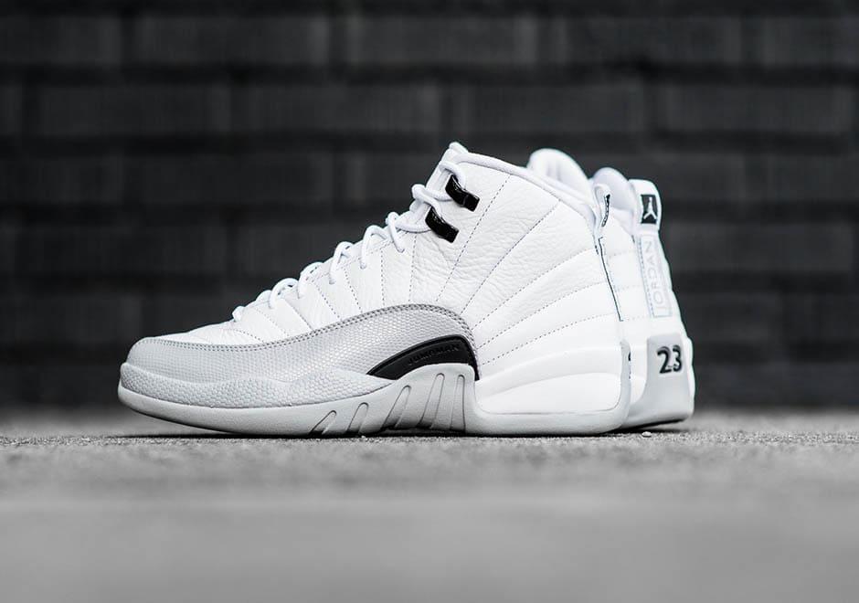 Mens Air Jordan 12 Full Air White Black shoes