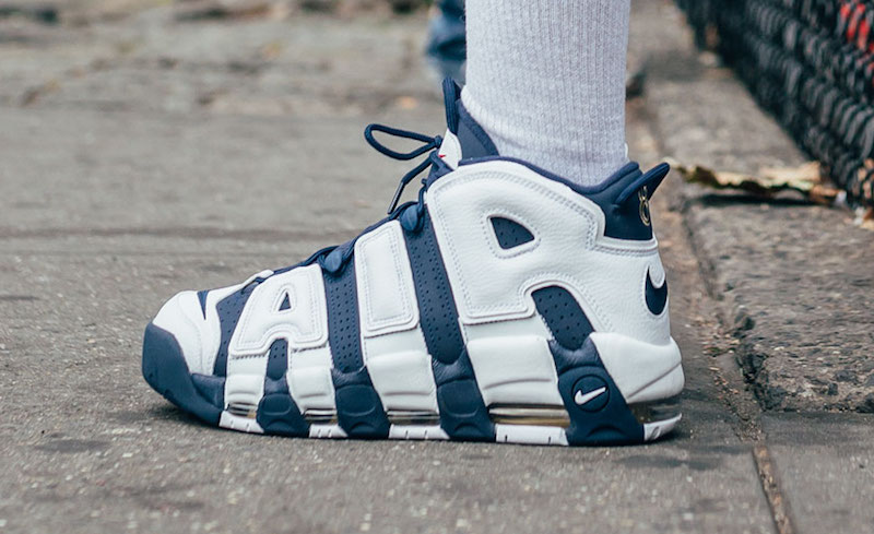 "size 40 6e556 1d6b2 On Foot Look at the Nike Air More Uptempo ""Olympic"""