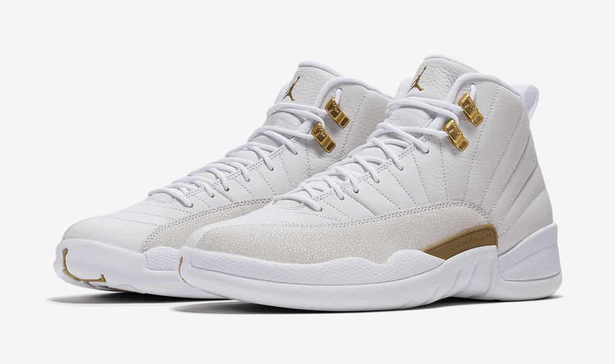 air jordan 12 ovo white gold