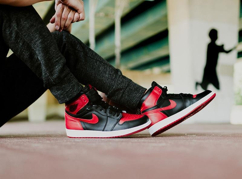 Jordan 3 Bright Crimson On Feet