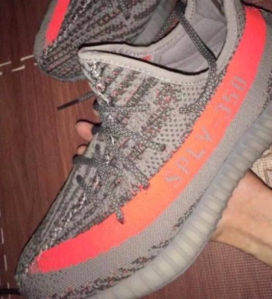 adidas Yeezy 350 SPLY Boost V2 Solar Red/Grey