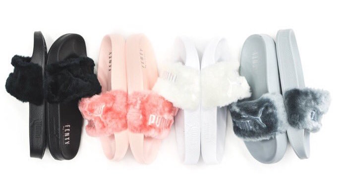 rihanna x puma fenty fur slides release links justfreshkicks. Black Bedroom Furniture Sets. Home Design Ideas