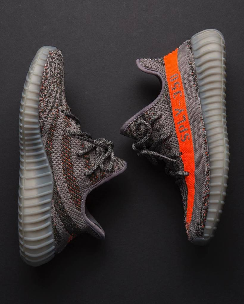 Sophia 's UA Yeezy Boost 350 V 2 Beluga SPLY 350 Gray Orange