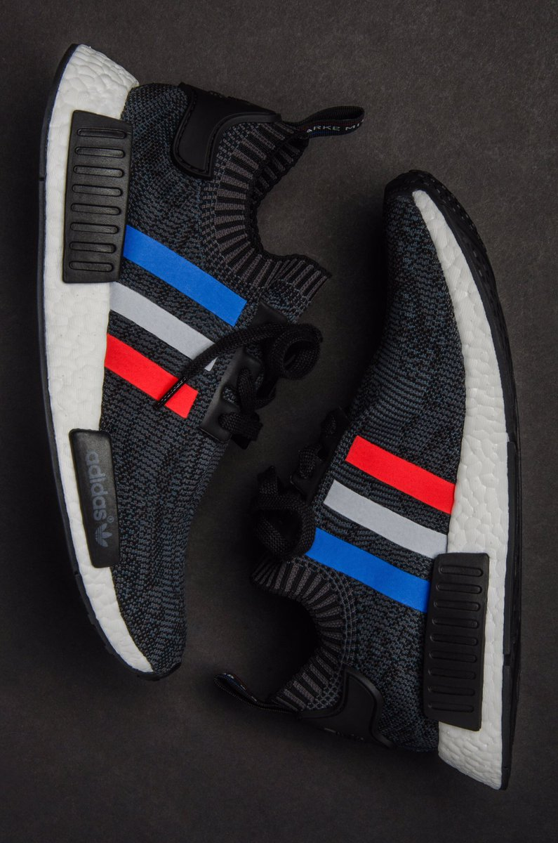 "adidas NMD R1 Primeknit Tri-Color ""Black"""