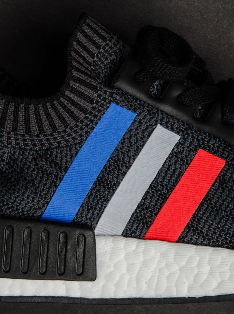 adidas NMD R1 Primeknit Tri-Color Black