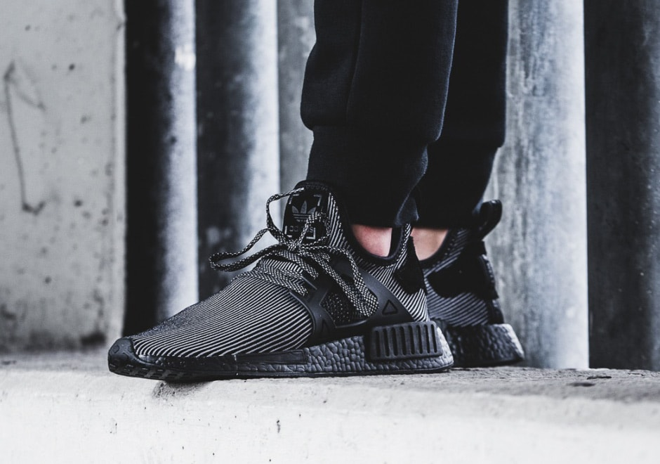 adidas NMD XR1 Triple Black On Feet