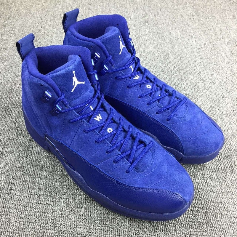 ... Air Jordan 12 Blue Suede ...