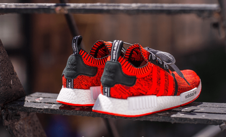 Adidas NMD R1 PK Primeknit OG Core Black Lush Red Review On