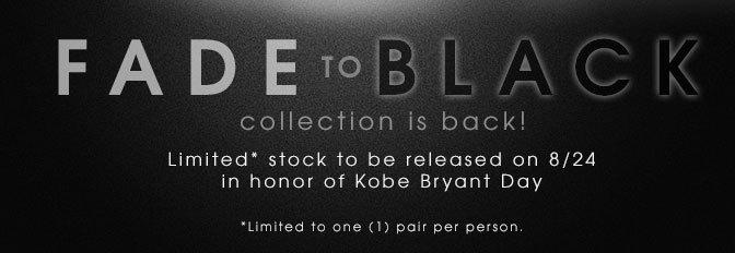 Nike Kobe Fade to Black Mamba Pack Restock