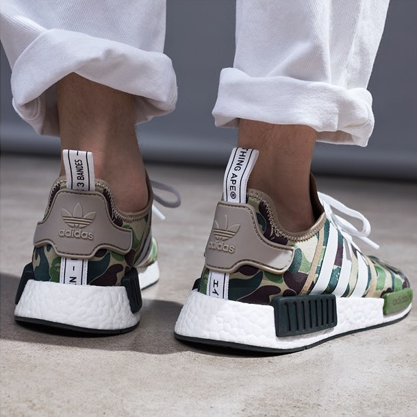 cheaper 4d315 402b9 ... adidas NMD R1 Bape On Foot ...