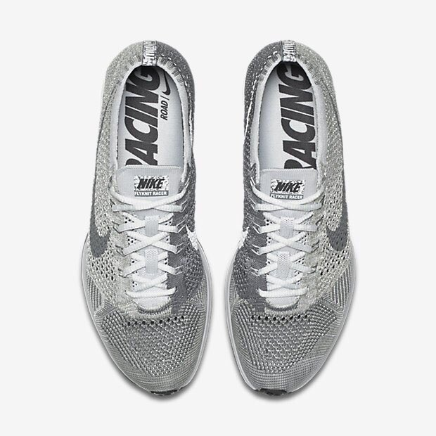 Nike Flyknit Racer Pure Platinum Cool Grey