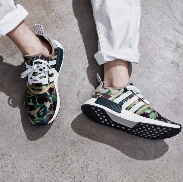 buy online ae136 85f80 adidas NMD R1 Bape On Foot
