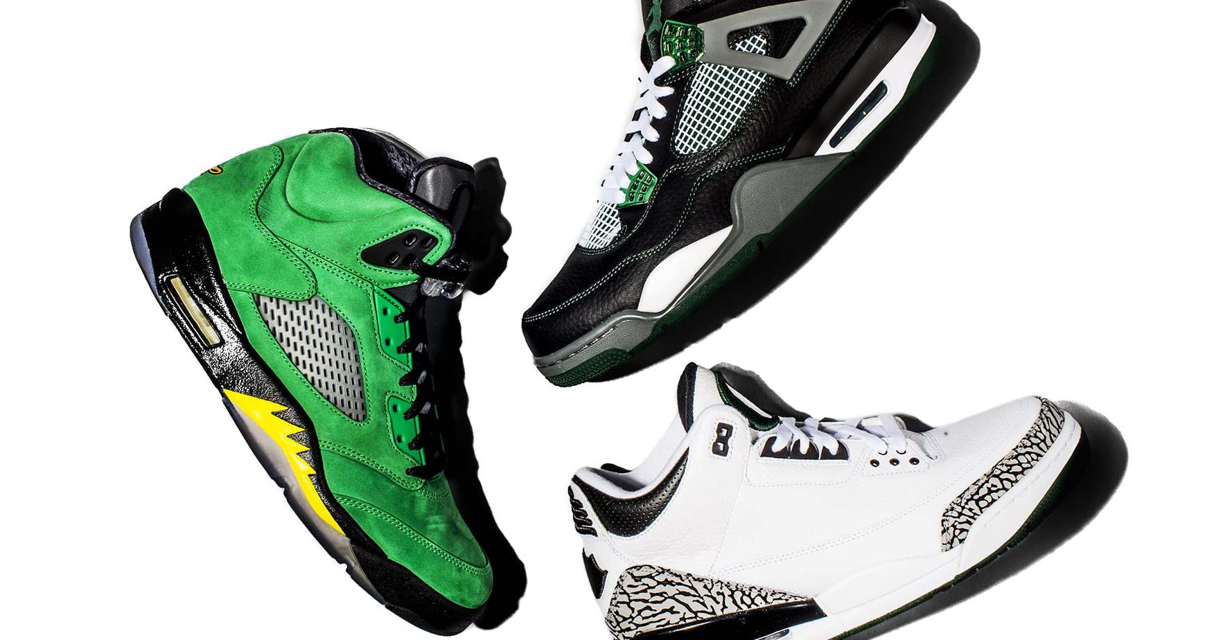 Nike Air Jordan Oregon Ducks Collection