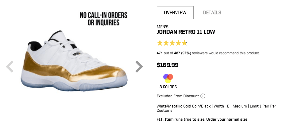 Eastbay Air Jordan Restock