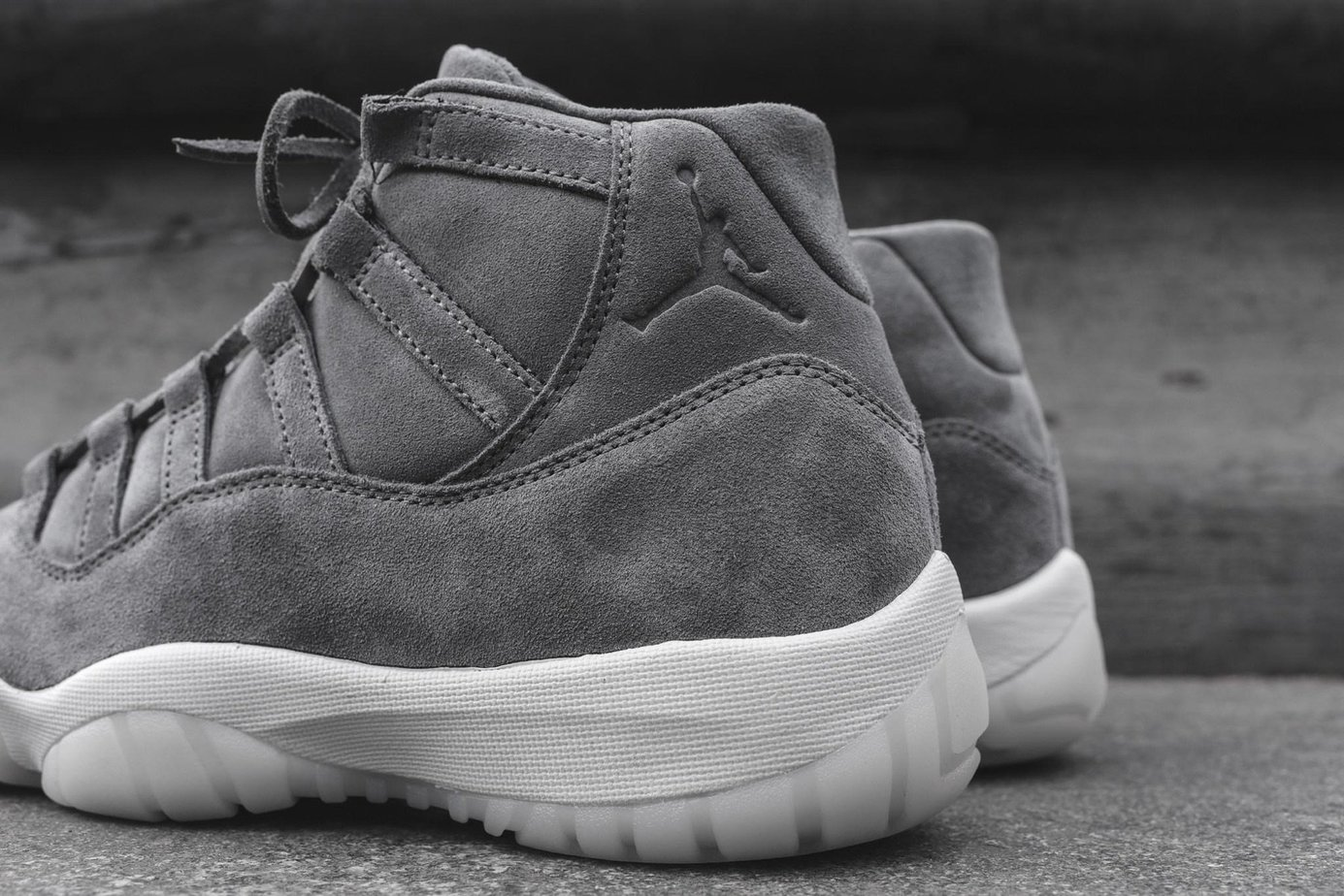 d44830bf4f0c95 Air Jordan 11 Pinnacle Grey Suede Now Available - JustFreshKicks
