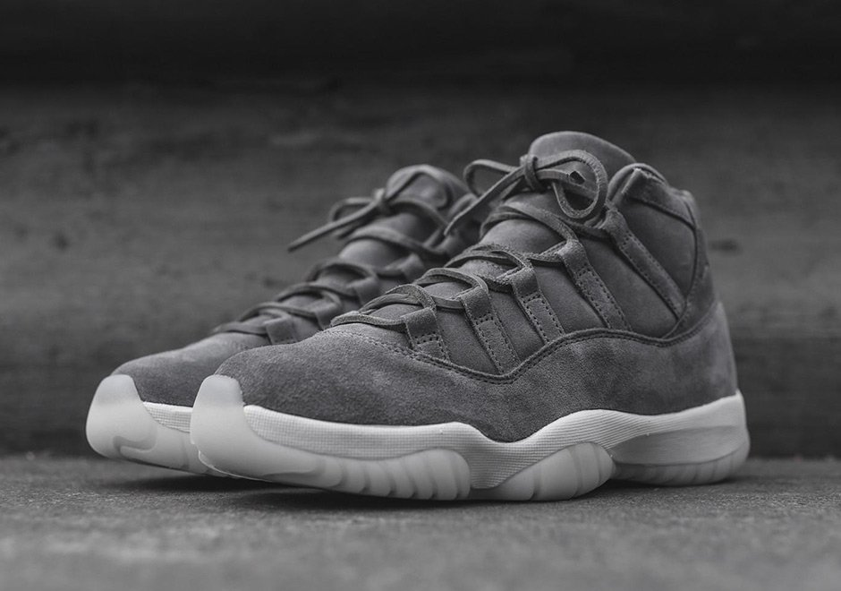 ecb9a919f52b8e Air Jordan 11 Pinnacle Grey Suede Now Available - JustFreshKicks