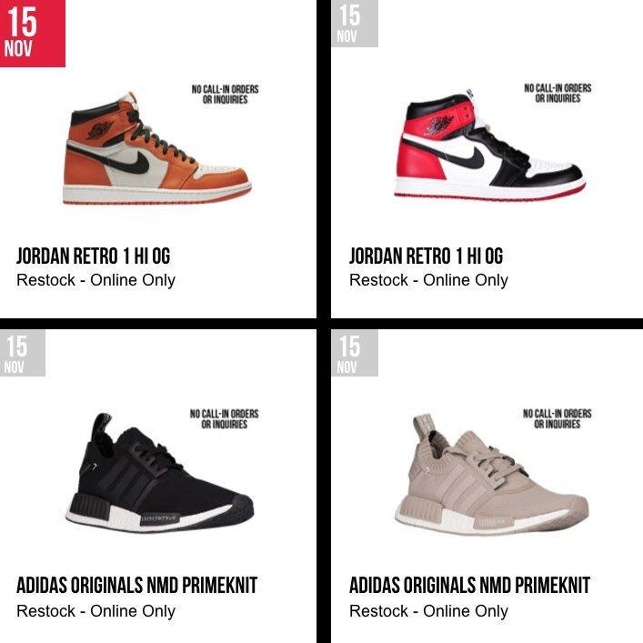 880923978329f4 Foot Locker Air Jordan   adidas NMD Restock 11 15 - JustFreshKicks
