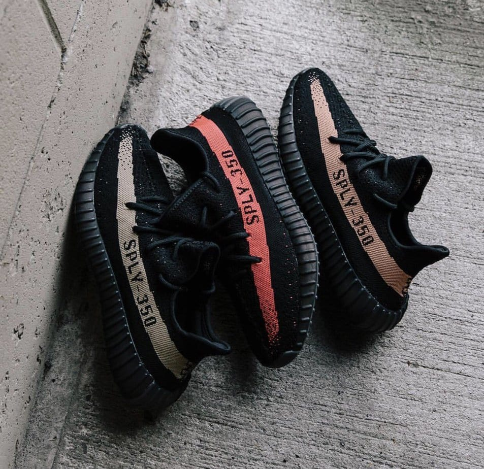 DS 2016 adidas Kanye West Yeezy Boost 350 V2 Infant Black Red Sz