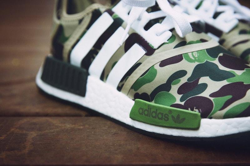 Bape adidas NMD R1 Green Camo