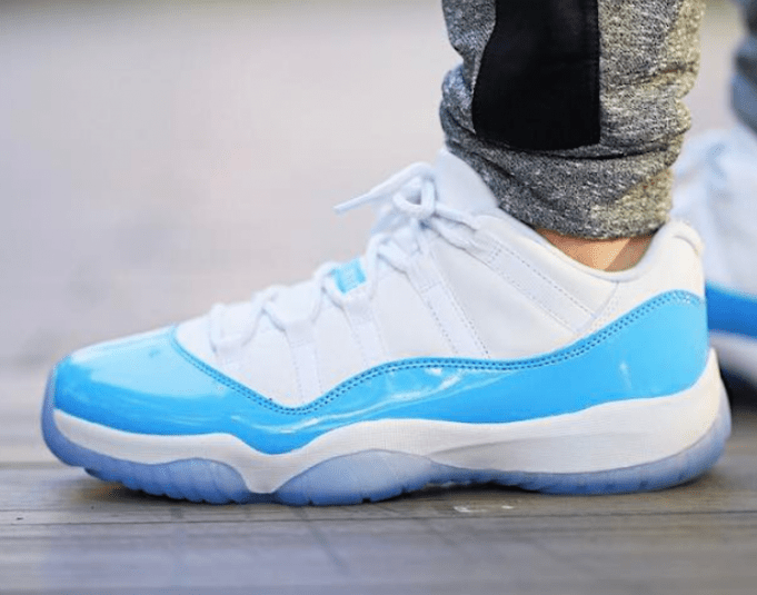 "0799e06bc6ab On Foot Look at the Air Jordan 11 Low ""Columbia"" Releasing in April"
