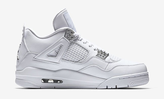 "c7636b2b07c9 Air Jordan 4 Retro ""Pure Money"" White Metallic Silver-Pure Platinum  308497-100. May 13"