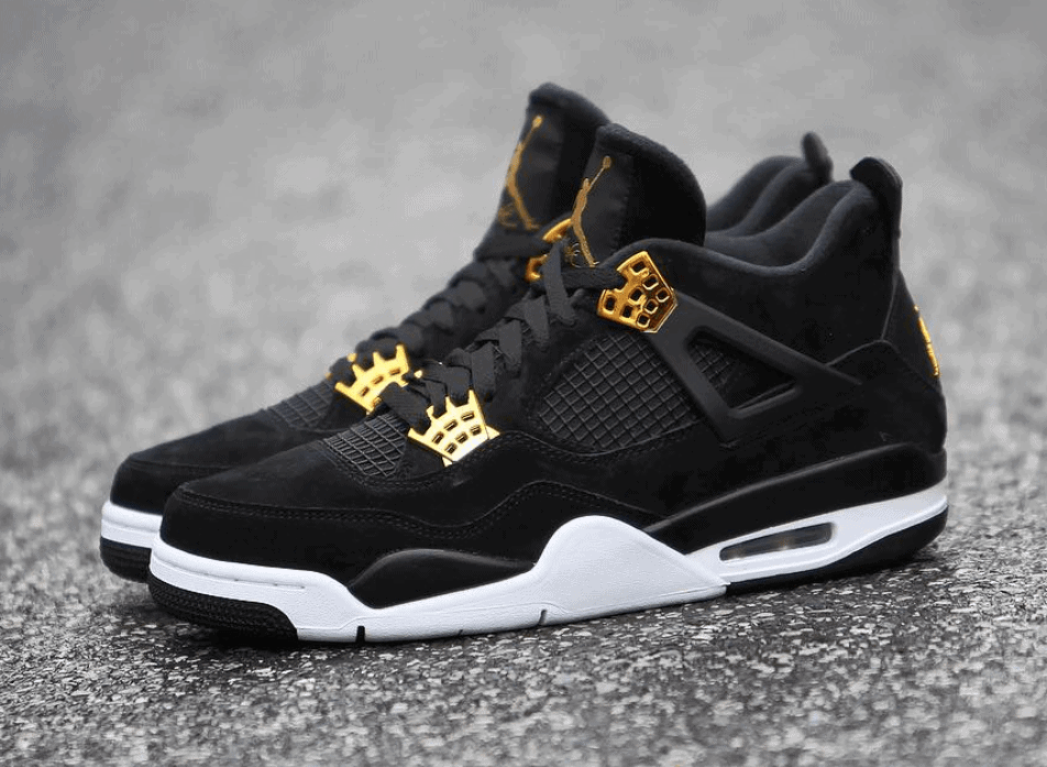 air jordans 4 black and gold