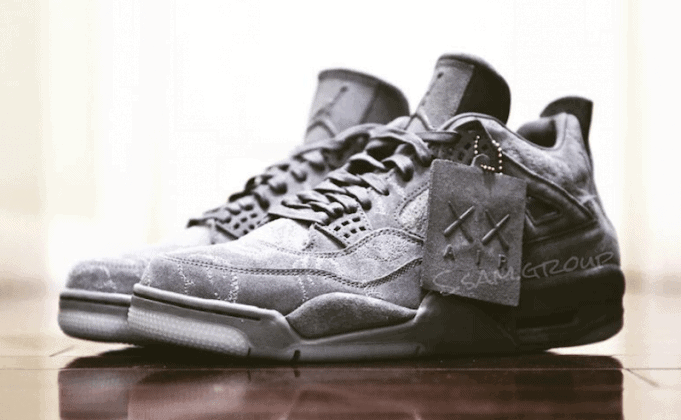 finest selection 86edd b7262 A KAWS x Air Jordan 4 collaboration was first rumored in January, and we  now have a first look at the KAWS x Air Jordan 4 Cool Grey, the first  collaboration ...