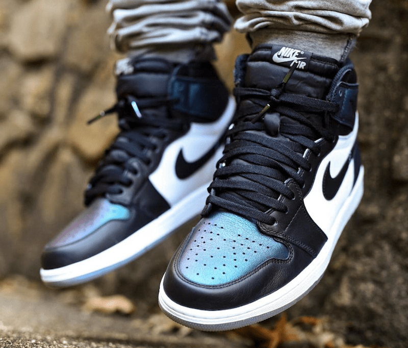 "015b7bac8c92 On Foot Look at the Upcoming Air Jordan 1 ""All-Star"" Chameleon"