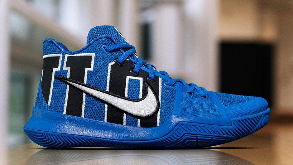 """fbe7de1aeeb8 Nike Kyrie 3 """"Duke"""" Release Date - JustFreshKicks"""