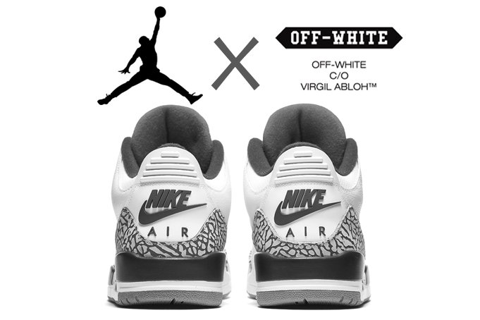 buy online a7d72 866c6 OFF-WHITE x Air Jordan 3 OG With Nike Air Coming Soon