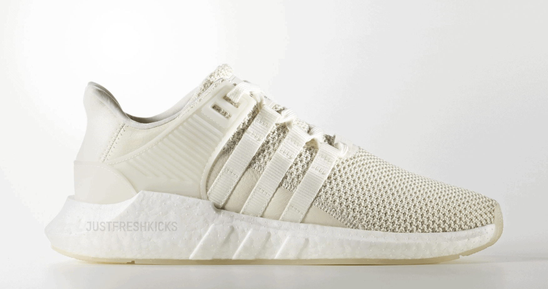 "adidas EQT Support 93/17 ""Off White"" Off White/Off White/Footwear White  Retail Price: $180. October 5, 2017"