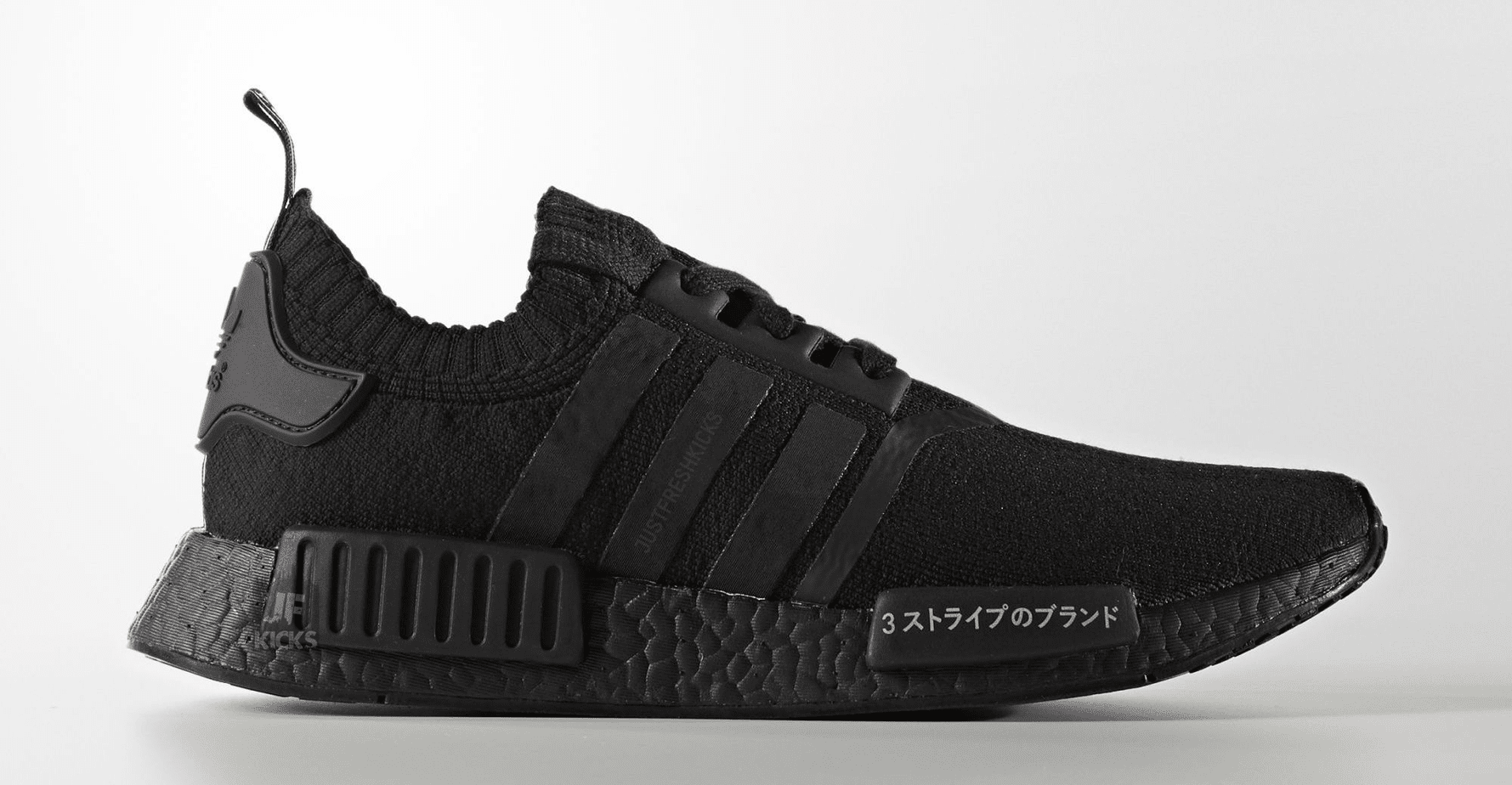 adidas nmd r1 pk japan triple black bz0220 justfreshkicks. Black Bedroom Furniture Sets. Home Design Ideas