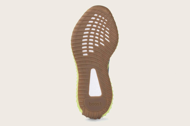Adidas Impulso Yeezy 350 V2 Semi Sorteo Línea Amarilla Congelado El1RFNI