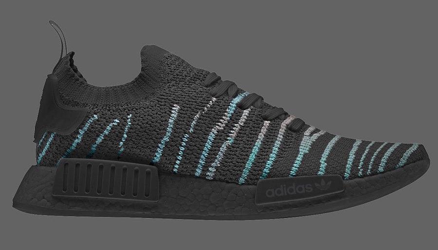 b1df17992 Release Date Details. Parley x adidas NMD R1 STLT Color  Core Black Blue  Spirit-EQT ...