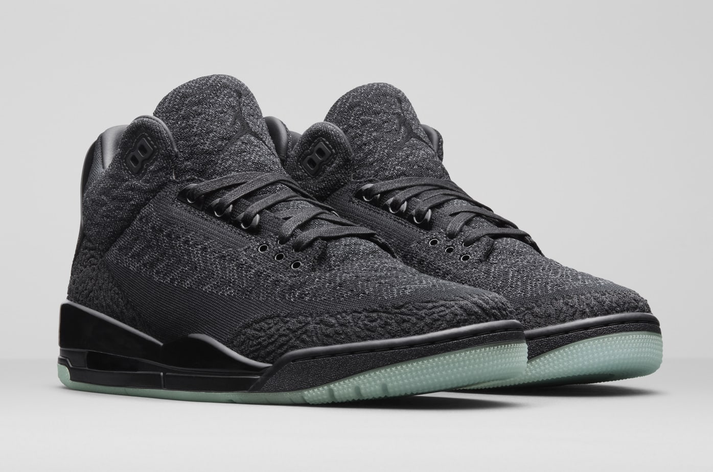 """low priced 971bd 87f58 Air Jordan 3 Flyknit """"Anthracite"""" Release Date  August 18th, 2018. Price    220. Color  Black Anthracite-Black Style Code  AQ1005-001"""