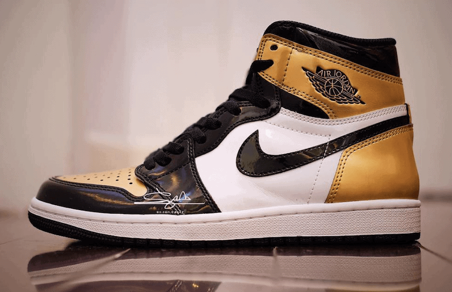 Air Jordan 1 Retro High OG Release Date: February 16, 2018. Color:  Black/Black-White-Metallic Gold Price: $160. Style Code: AQ7474-001