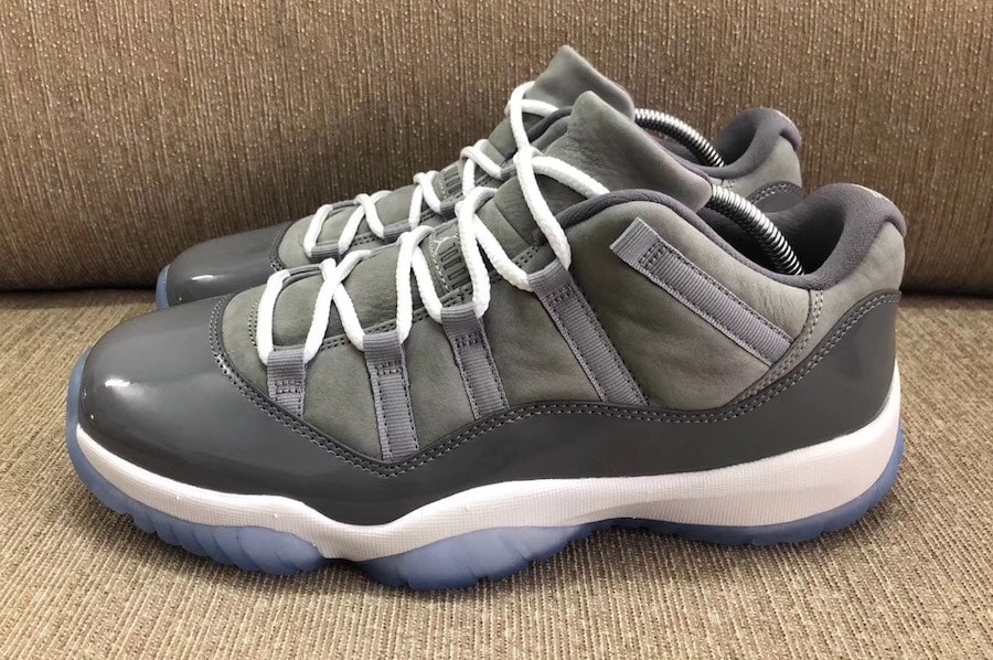 the latest 621aa b5905 Back in 2013, images of an Air Jordan 11 Low in the classic Cool Grey  colorway surfaced, but no release ever came. Now, five years later, Jordan  brand is ...