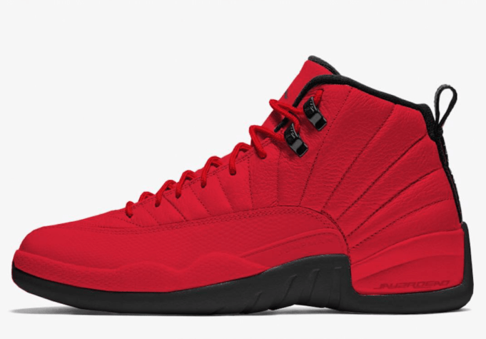 "Air Jordan 12 ""Bulls"" Color: Gym Red/Gym Red-Black Style Code: 130690-601. Release  Date: October 2018. Price: $190"