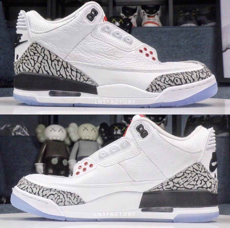 "332f28342a7 Air Jordan 3 White Cement ""Dunk Series"" Color  White Fire Red-Cement Grey  Black Style Code  923096-101. Release Date  February 14"