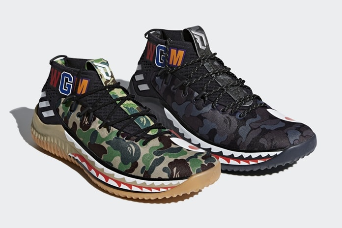 the latest a1e28 edcee Official Photos of the BAPE x adidas Dame 4 Releasing All-Star Weekend