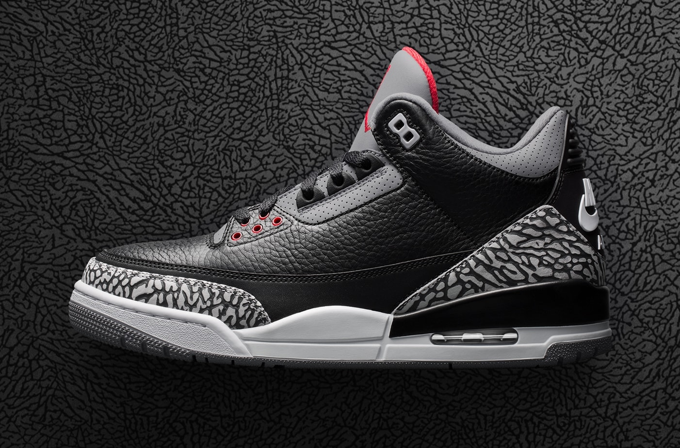 "size 40 ad520 404eb The Air Jordan 3 ""Black Cement"" is almost here. The most revered Jordan 3  will be making a return this year, along with other colorways like the AJ3  Tinker."