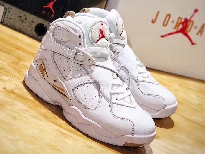 "cheaper b3a50 ce70c In Hand Look at the New OVO x Air Jordan 8 ""White"""
