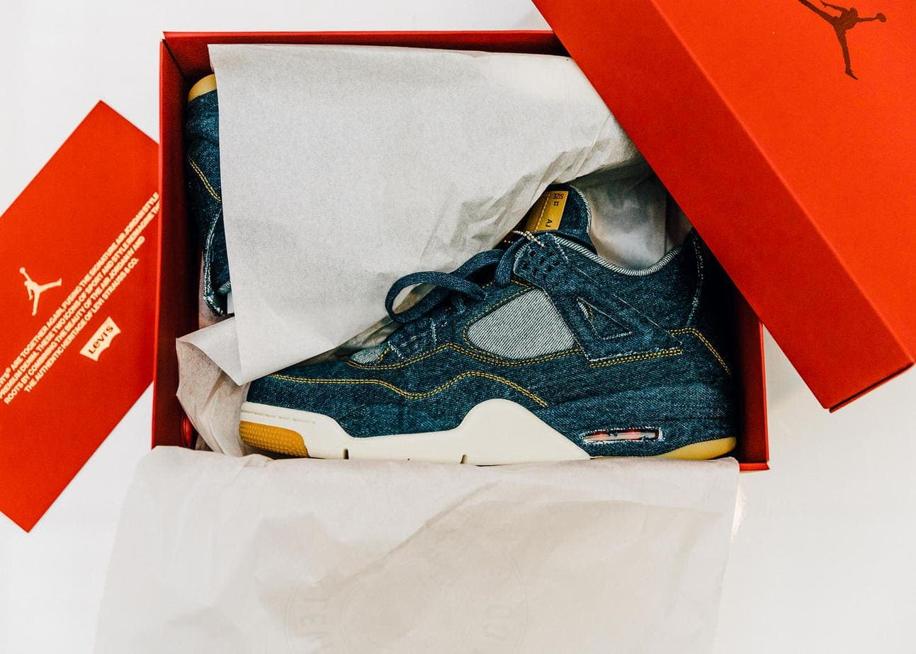 The Levi s x Air Jordan 4 is set release this Wednesday, January 17th with  a matching Jordan Reversible Trucker Jacket. Just as we do for every major  ... ea2bb7d3791
