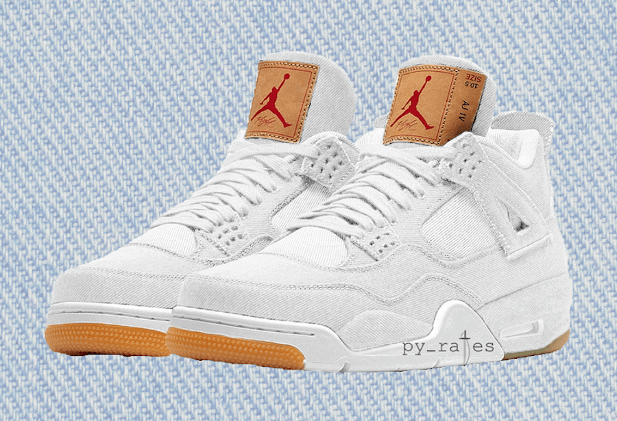 6177a8c7785e4a Levi s x Air Jordan 4 Surfaces in New White Colorway - JustFreshKicks